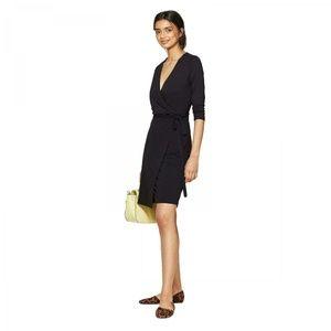 NWT A New Day Slim Fit Knit Wrap Dress XS Black